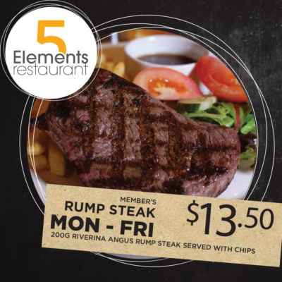Members $13.50 Rump Steak