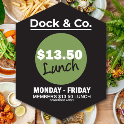 Member's $13.50 Lunch – Monday – Friday